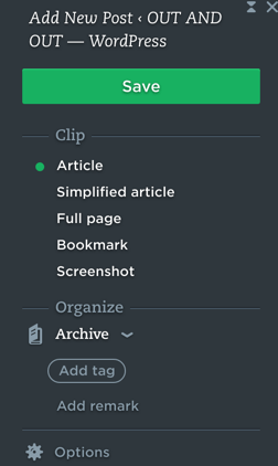 Always adding new things to Evernote