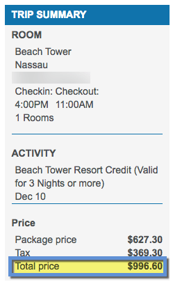 4 nights is worth nearly $1,000