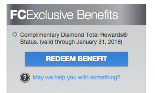 Total Rewards Diamond Status