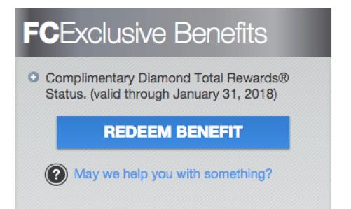 Total Rewards Diamond Status