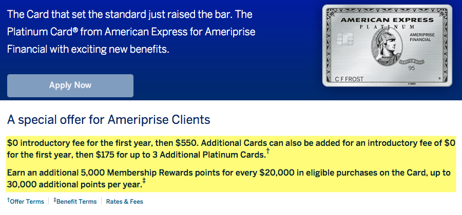 Ameriprise Amex Platinum Card