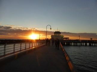 Sunset from St. Kilda pier