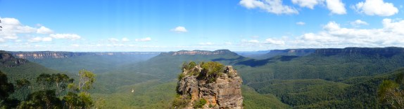 View from behind the Three Sisters