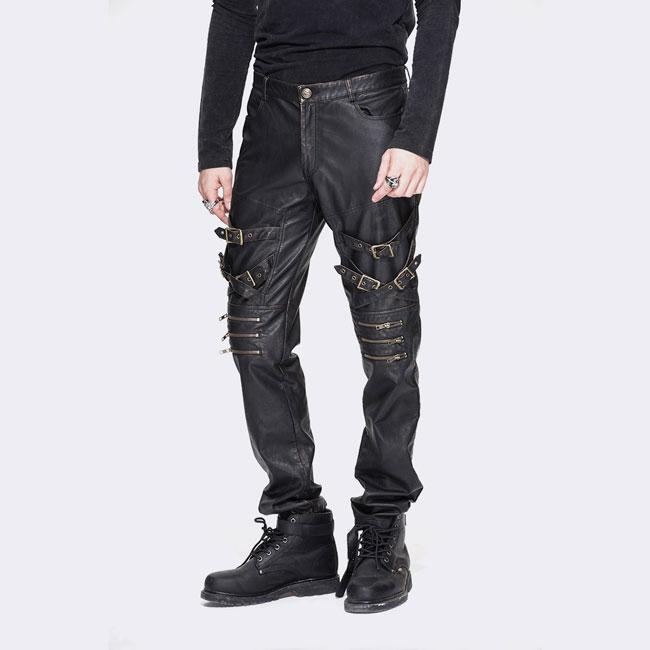 Marauder Faux Leather Trousers Outcast Rebellion