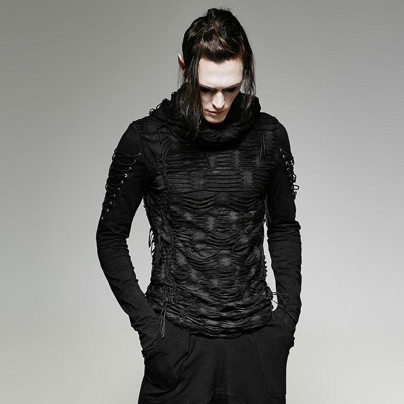 Punk Rave Darios Hooded T-Shirt Outcast Rebellion 01