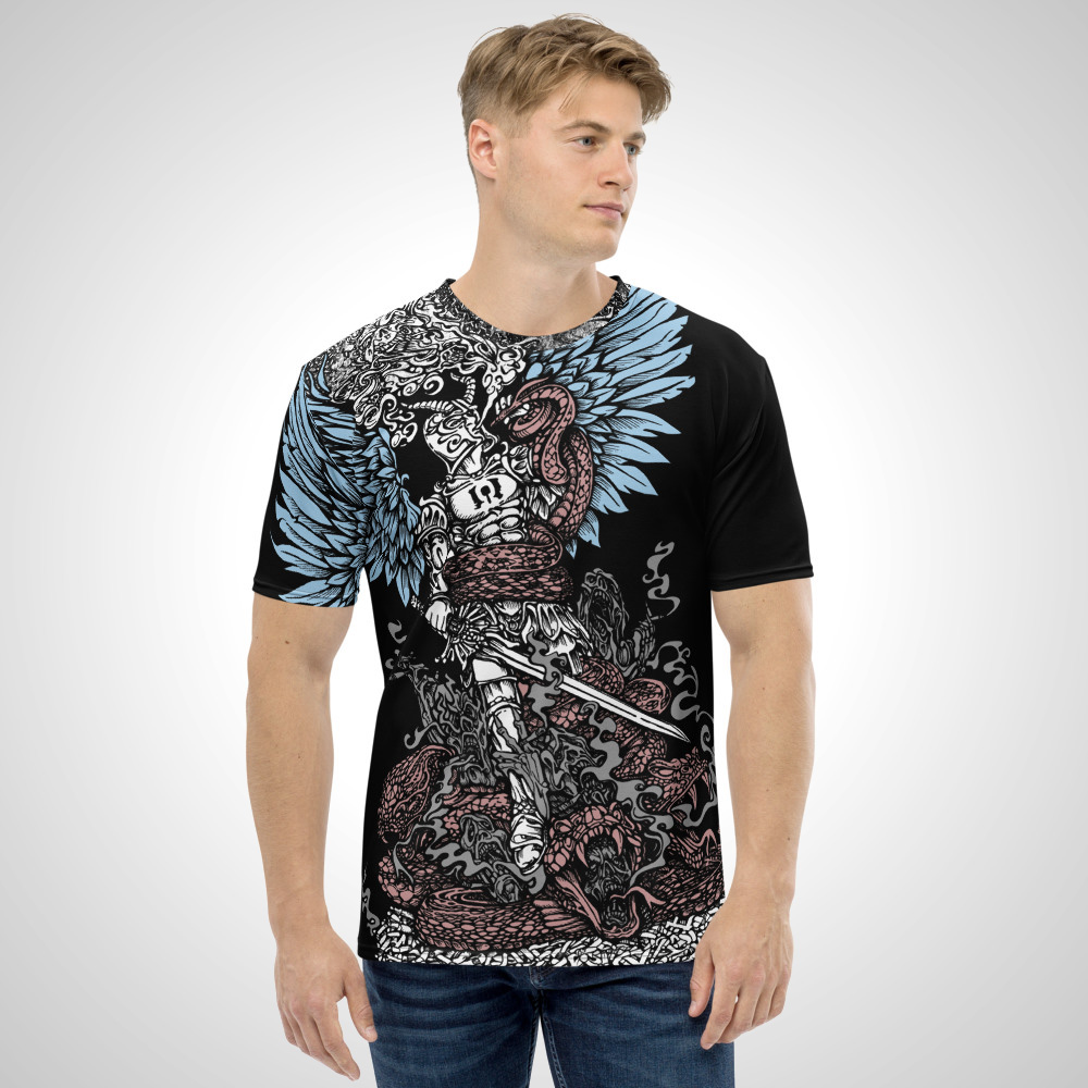 Arc Angel Vapriel All Over Printed T-Shirt by Outcast Rebellion Front