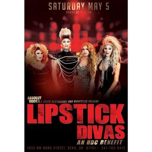 Lipstick Divas In Bend On Cinco De Mayo poster featuring 4 drag queens on May 5th at seven nightclub