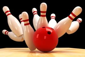 Bowing image of ping and a bowling ball