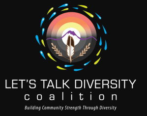 Lets Talk Diversity Logo text Building community strength through diversity