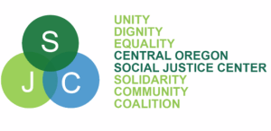 Central Oregon Social Justice Center Logo unity dignity equality solidarity community coalition