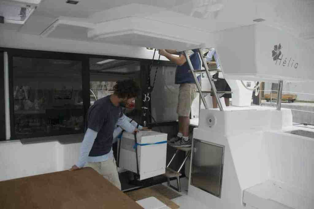 Lifting Shore Power Converter Onboard