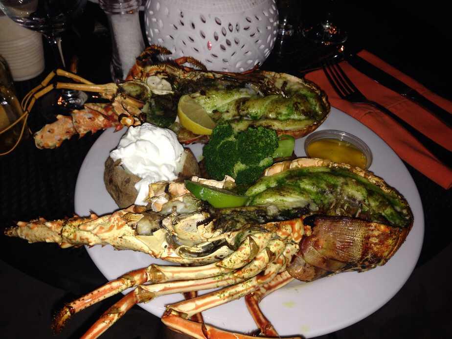 Lobster dish at Wonky Dog in Anegada, British Virgin Islands.