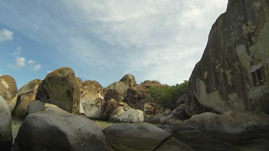 Amazing boulders in the Baths, Virgin Gorda, British Virgin Islands.