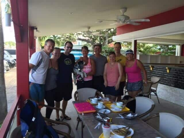 Frank, me, David, Sarah (and Lucia), Shane, Christina, Jeff and Mary Grace.
