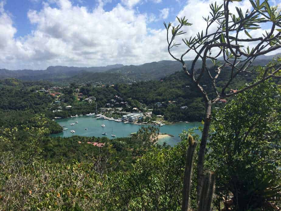 View over Marigot Bay