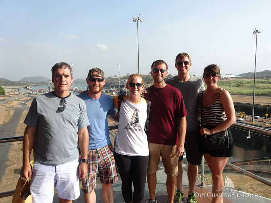 A photo of the Starry Horizons crew at the Mira Flores locks museum.