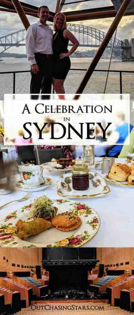 We have a fancy day in Sydney celebrating an anniversary. OutChasingStars.com