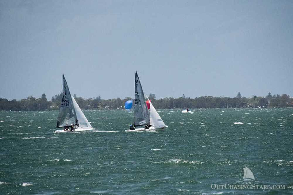 Dinghy sailing races in Lake Macquarie.