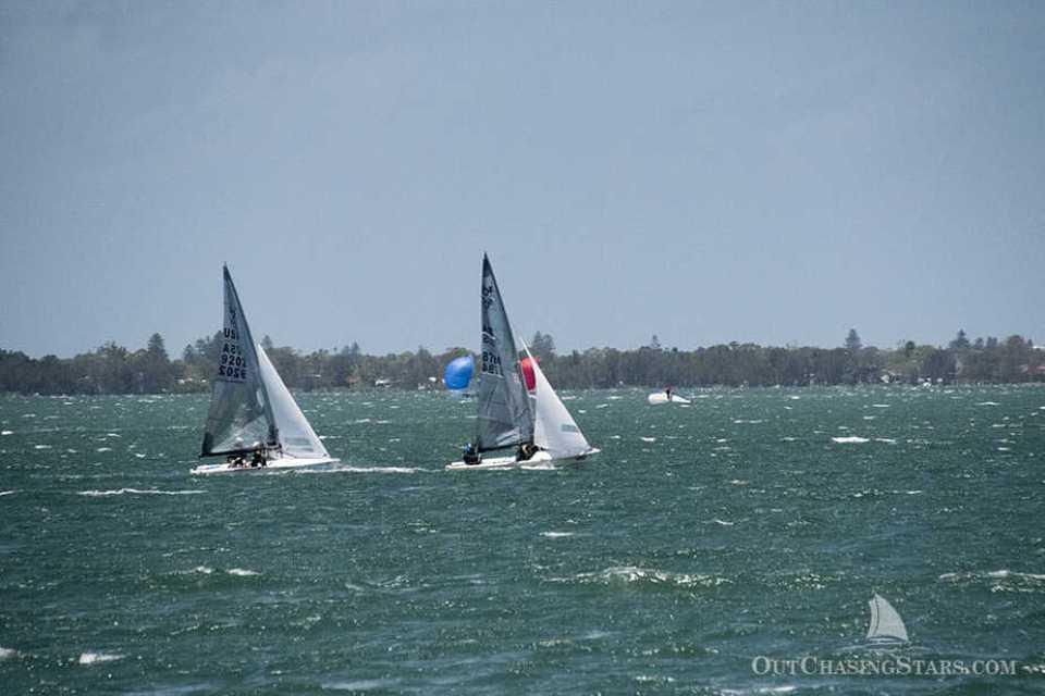 Dinghy sailing races in Lake Macquarie.