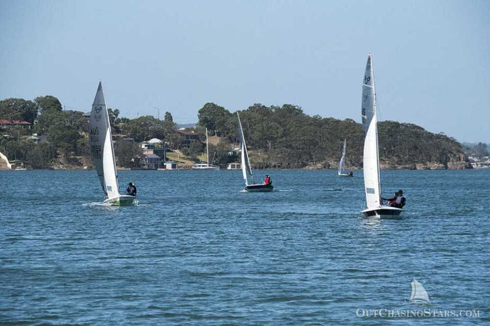 Dinghy sailing races in Lake Macquarie out of the RSL.