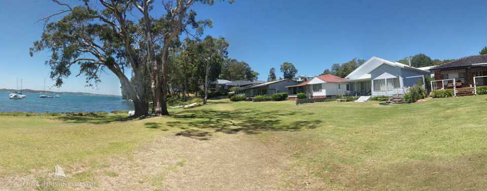 Lots of beautiful homes on Lake Macquarie's foreshore.