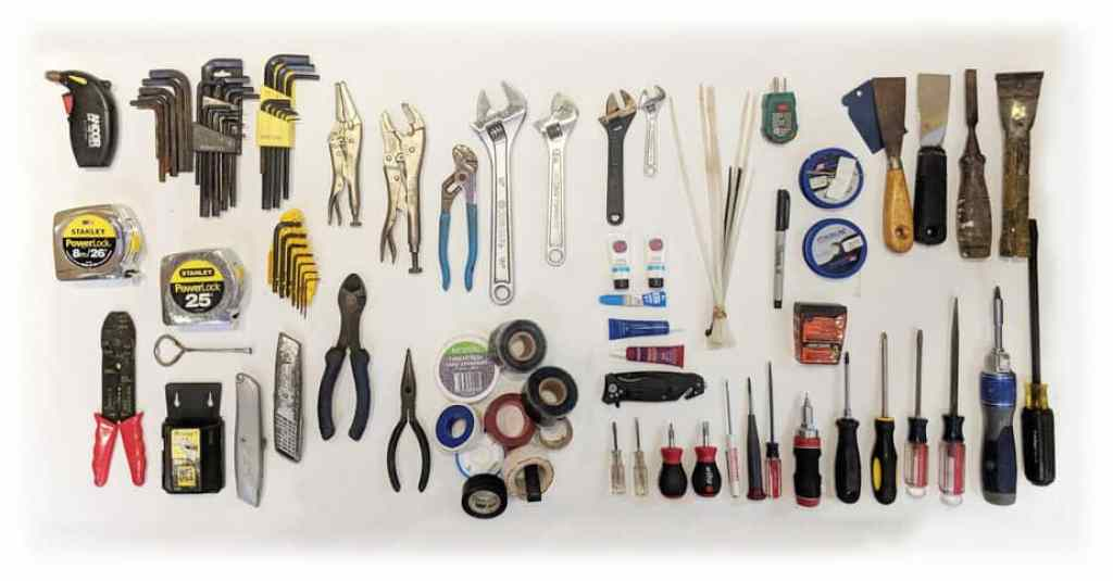 The most basic tools for cruising boats to have on hand.