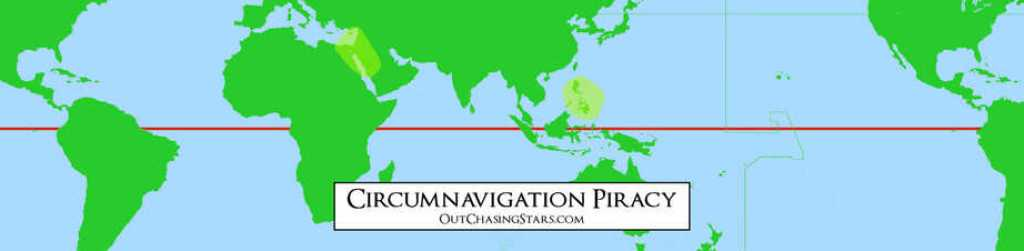A map showing piracy hotspots sailors need to take into consideration when planning a world circumnavigation.