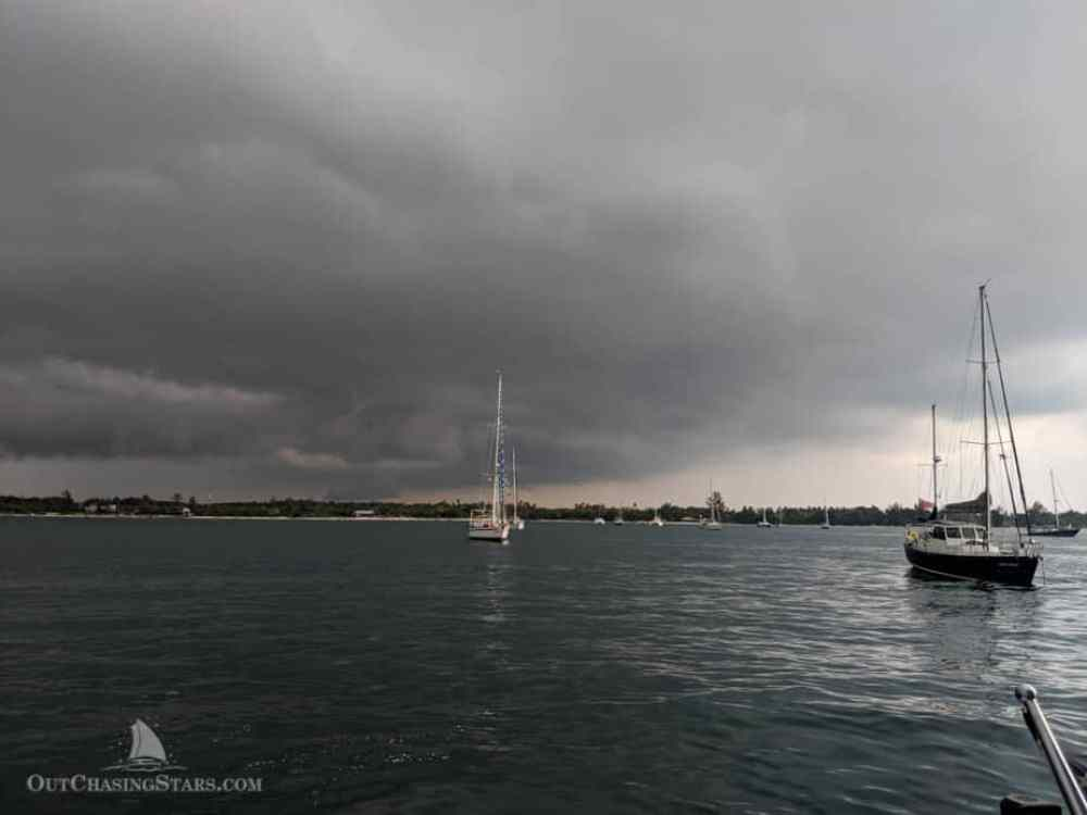 Storm clouds rolling into Belitung Indonesia.