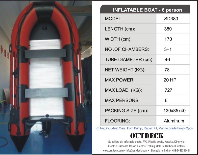 6 person Inflatable Sports Boat