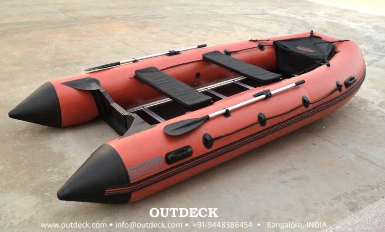 4 man Inflatable Boat with Aluminum floor