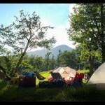ひぐらしと真夏のキャンプ