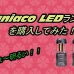 【キャンプパーツ】激安小型のLEDランタンを購入してみた!!