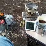 2018-12-15角渕キャンプ場で、初ソロキャンプ温かコーヒーが旨い