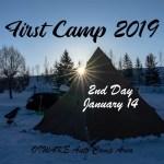 First Camp 2019 【2nd day】~2019初キャンプ【後編】~ #サンピラー #太陽柱 #追分オートキャンプ場 #北海道