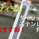 【キャンプ道具】ダイソーのステンレス角箸が便利!