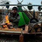 木材を使ったやたらと手作りだらけのソロキャンプ