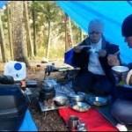 無料キャンプ場「雨の朝ブルーシートA張りで朝食を」編 夏井川渓谷 キャンプ場