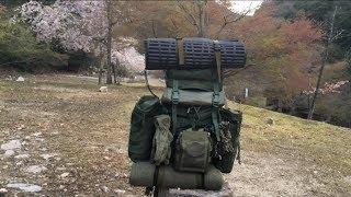 バックパック冬装備 を紹介しながらソロキャンプ  タープ泊