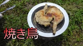 アウトドア料理 焼き鳥
