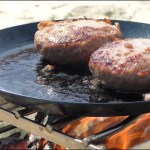 【焚火料理】瀬戸内海で焚火ハンバーグ Hamburger on the bonfire
