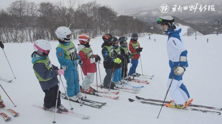 田沢湖スキー場でモーグルジュニアキャンプ