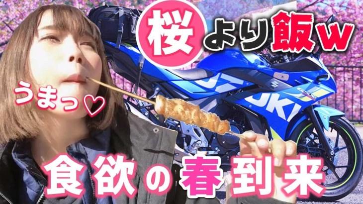 【河津桜】食いしん坊バイク女子がお花見ツーリング行った結果