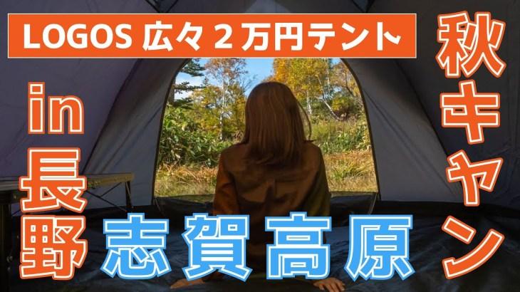 【秋キャンプ】紅葉真っ盛りの志賀高原でソロデイキャン!LOGOSテントの内装レビューは後半で【木戸池キャンプ場】