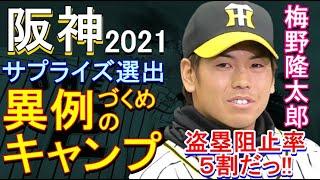 阪神 キャンプ、サプライズ選出 梅野隆太郎 今年は盗塁阻止率5割だっ!2021年1月24日