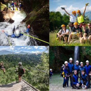 Canyoning Rafting Zipline Package