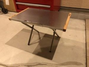 ユニフレーム(UNIFRAME)焚き火テーブル 利用方法 設営方法 完成