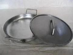 鉄板工房(MM Farctoy)鉄鍋 スーパーブラスト 極厚鉄板製フタ付き