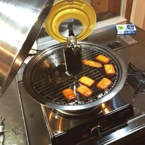 燻製中 醤油とチーズとハッピーターン
