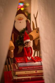 Elf on the shelf TPs the coffee table