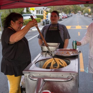 Fresh Churros at a funflicks Outdoor Movie event